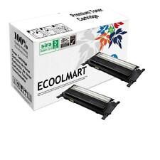 2 pack CLP325 Black Toner fits Samsung CLP-320 CLP-325 CLP-325W N Printer