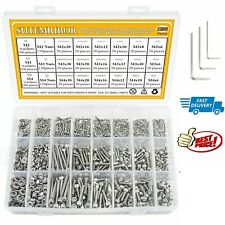 2000 Piece Bolts Nuts And Washer Metric,Screw Cap Assortment Kit with Container