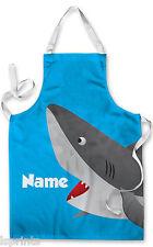 Tiburón personalizado de dibujos animados para niños Delantal de pintura de agua de artes y artesanías para hornear