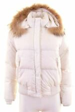 ADIDAS Womens Padded Jacket Size 10 Small White Polyester  IS11