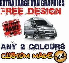 EXTRA LARGE VAN CUSTOM VEHICLE GRAPHICS SIGN WRITING KIT DECALS STICKERS