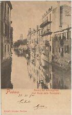 PADOVA - CANALE DEL BACCHIGLIONE DAL PONTE DELLE TORRICELLE 1900