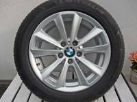 4 original BMW Alus mit Sommerreifen Michelin Primacy 225/55 R17