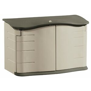 RUBBERMAID COMMERCIAL PRODUCTS FG374801OLVSS Outdoor Storage Shed,Lg Horizontal,