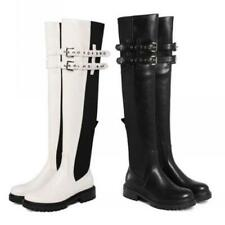 Women Western Knight Over The Knee High Boots Biker Winter Autumn Shoes 34/39 L