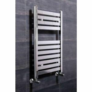 Boden 800 x 500mm Straight Chrome Flat Panel Heated Towel Rail