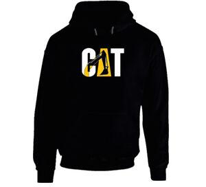 Cat Funny Hoodie Sweatshirt Machine Equipment Excavator Caterpillar Construction