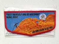 MINT OA Flap Lodge 387 Ha Kin Skay A Ki Yellow Border Camp Alexander