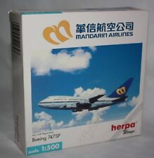 Herpa Wings-Mandarin Airlines-Boeing 747 SP-Reg.-1:500-Sammlung-Modell #511643
