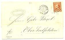NEDERLAND 1870 LETTER COVER TO GERMANY    NR # 9   F/VF