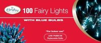 NEW 100 FAIRY LIGHTS WITH BLUE BULBS WINDOW CHRISTMAS TREE PARTY DECORATION