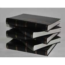 Briefmarkenalbum, Einsteckalbum, 60 weiße Seiten, schwarzer Ein. 5er Set