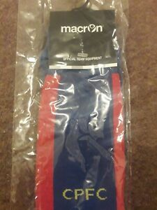 Crystal Palace Football Club Offical Home Socks 3/4 years New in Sealed bag