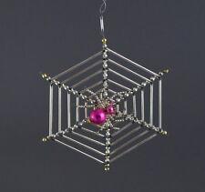 Alter Gablonzer Christbaumschmuck - Spinne im Netz   (# 7205)
