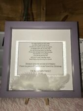 Personalised Frame With Angel Poem And Feathers. Christmas. Wedding