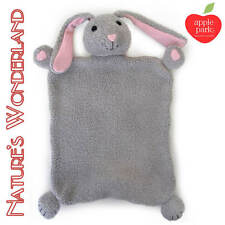 BUNNY BLANKIE in Box 100% Organic Cotton body, Silk nose Picnic Pal - Apple Park