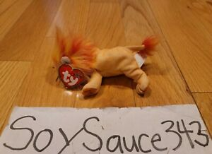 TY TEENIE BEANIE BABIES BABY BUSHY THE LION 2000 RETIRED MINT MCDONALDS