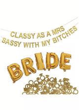 Bachelorette Party Decorations Bridal Shower Kit 3 Piece Gold Classy Shimmering