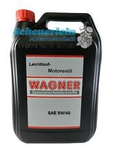 WAGNER Leichtlauföl SAE 5W/40 vollsynthetisch / Motorenöl Motor Öl / 5 Liter