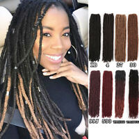 "18"" Goddess Faux Locs Dreadlocks Synthetic Braiding Locs Crochet Hair Extensions"