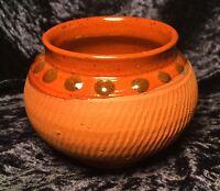 Lovely Handmade Terracotta Studio Pottery Bowl, Highly Decorative Details