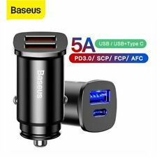 Baseus 30W Dual USB QC 4.0 Type C PD 3.0 Car Charger Adapter for Google Samsung