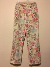 Graff Wear by Um Company Petite 4PStretch Elastic Waist Floral Pants