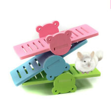 Wooden Hamster Seesaw Pet Seesaws Toys For Small Animal Rabbit Mice New