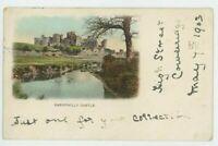 Caerphilly Castle Glamorgan Early 1903 UB Cowbridge Squared Circle Postcard B964