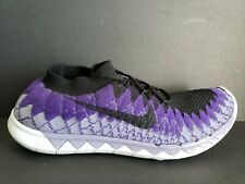 buy online da659 7f048 Nike Free Flyknit 3.0 Mens Size 10 Shoes White Black Grey Court Purple  Sample