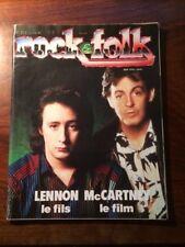 ROCK & FOLK N°215/JANV 1985/LENNON ET MC CARTNEY