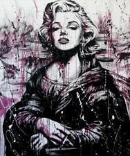"""Oeuvre Pop Art sur toile imprimée """"Marilyn Monroe la Joconde """" 50x60"""