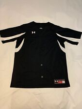 Under Armour Mens Black Waveland Baseball Jersey Shirt Large 1100714