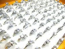 Wholesale Mixed Lots Jewelry 30pcs Resale Zirconia Stainless Steel Women's Rings