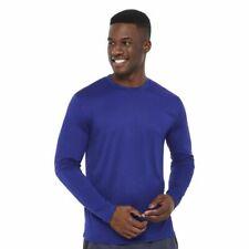 Athletic Works Dri-More Men's Blue Long Sleeve Shirt XL 2XL