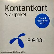 Telenor prepaid Swedish sim card