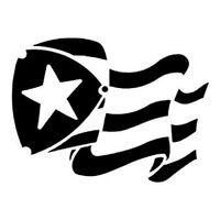 "Car Decal Sticker Puerto Rico Flag 4"""