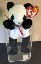 TY FORTUNE the PANDA BEANIE BABY - MINT with MINT TAG With ERRORS RARE! New!