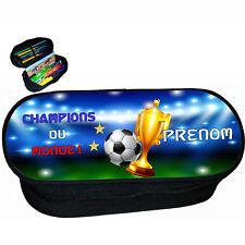 trousse à crayons école foot 2 étoiles champions du monde personnalise réf 279