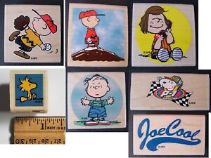 Snoopy Peanuts rubber stamps - choose from 6 DIFFERENT designs! FREE SHIPPING !