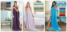 "34"" x 68"" X LARGE BATH SHEET COTTON TOWEL Green Gray Ivory Blue Purple Mom Gift"