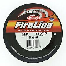 FireLine Braided Beading Thread 6lb,Crystal Clear, .006-Inches,125 Yards