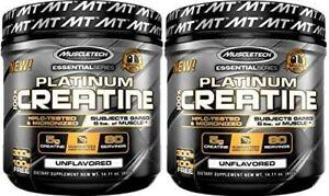 2 x MUSCLETECH Platinum 100% Creatine 400 g 80 Serves