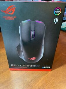 ASUS - ROG Chakram Bluetooth Optical Gaming Mouse with Aura Sync Lighting - T...