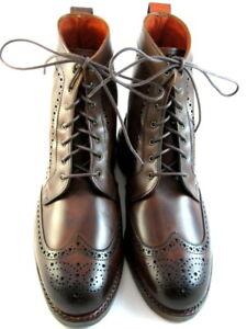 """NEW Allen Edmonds """"DALTON"""" Men's Leather Wingtip Dress Boots 7.5 E Chili  (637)"""