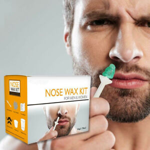 Nose Ear Cleaning Hair Removal Wax Kit Men Painless & Easy Nasal Waxing Tool