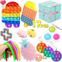 17x Simple Dimple Fidgets Toys Sensory Fidget Toy Set, ADHD Autism Relief Stress