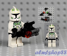 LEGO Star Wars - Clone Trooper Minifigure w/ Sand Green Markings 7913 Custom