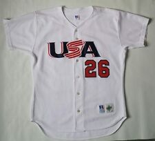 Vintage Mark Prior Cubs Team USA Russell Athletic Baseball Jersey Size 48