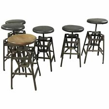 Industrial Adjustable Drafting Spring Stools by American Cabinet Co.